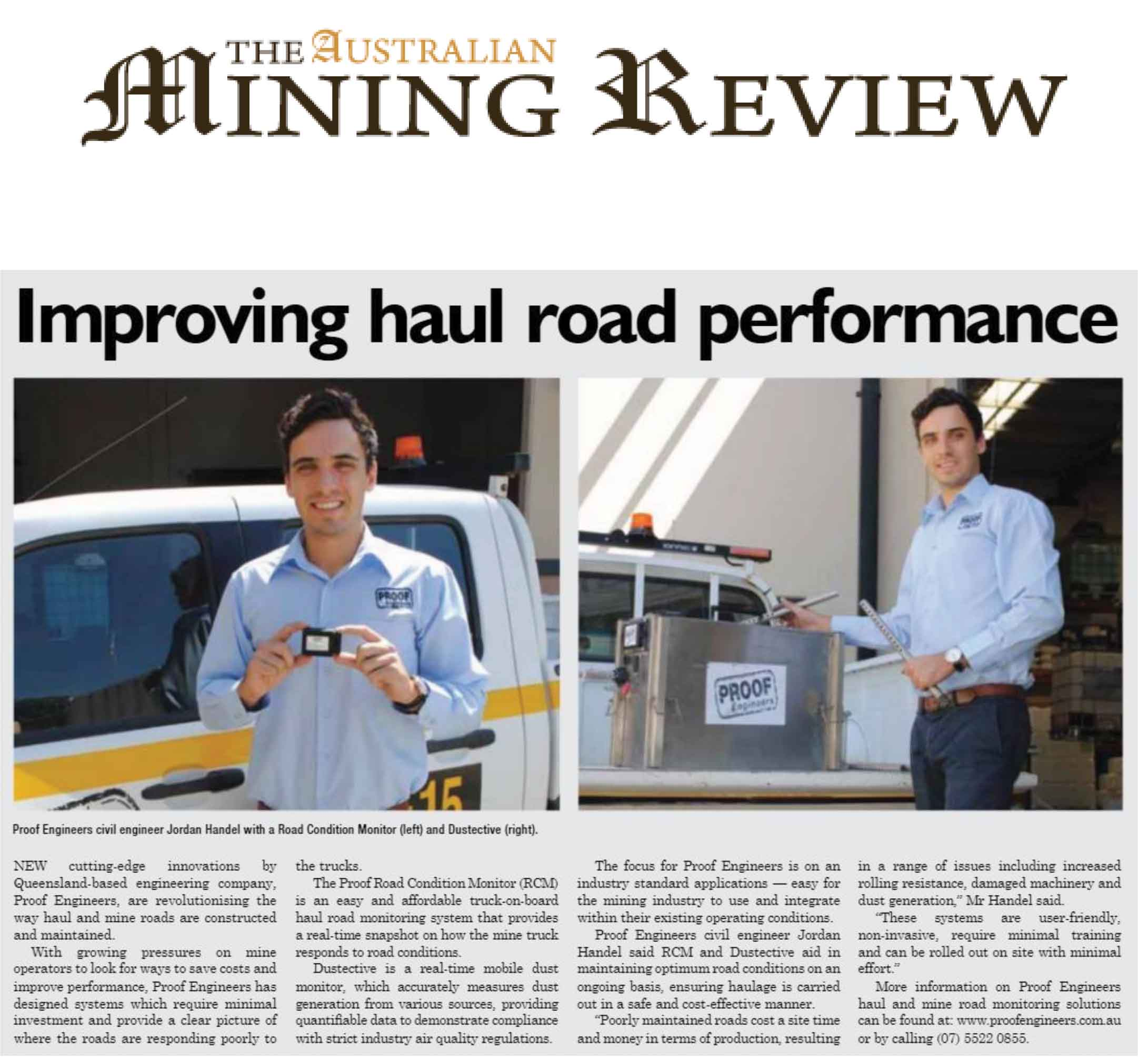 Improving Haul Road Performance